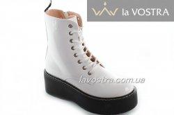 Ботинки женские Weide 6848 (весенне-осенние, белый, эко-кожа)