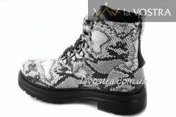 Ботинки женские Weide 6855 (зимние, снейк, эко-кожа)