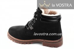 Ботинки женские Weide 6854 (зимние, черный, эко-кожа)