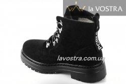 Ботинки женские Weide 6853 (зимние, черный, эко-замш)