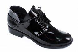Туфли женские Darini 6457 (весенне-осенние, черный, лак)