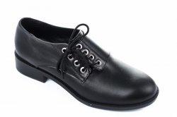 Туфли женские Darini 6456 (весенне-осенние, черный, кожа)