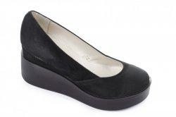 Туфли женские Днепр 4756 (весенне-осенние, черный, замш)