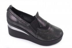 Туфлі жіночі Дніпро 5068 (весна-літо-осінь, графіт, шкіра)