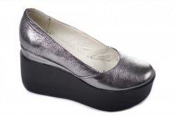 Туфли женские Днепр 4755 (весна-лето-осень, серебро, кожа)