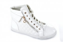 Сникерсы женские GOFC 3955 (весенне-осенние, белый, эко-кожа)