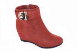 Ботинки женские YzY 5527 (весенне-осенние, красный, эко-замш)
