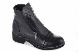 Ботинки женские Sezar 5547 (весенне-осенние, черный, кожа)
