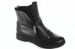 Ботинки женские Днепр 5233 (зимние, черный, кожа)