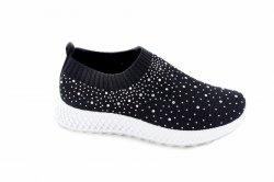 Мокасины женские Seastar 7133 (лето, черный, текстиль)