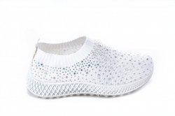 Мокасины женские Seastar 7134 (лето, белый, текстиль)