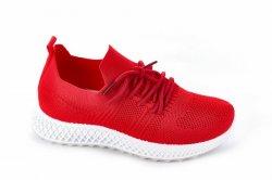 Мокасини жіночі Seastar 7130 (літо, червоний, текстиль)
