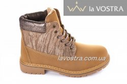 Ботинки женские Weide 2831 (зимние, кемел, эко-кожа)