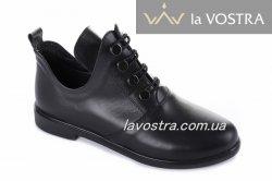 Ботинки женские Днепр 5509 (весенне-осенние, черный, кожа)
