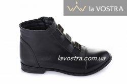 Ботинки женские Staturi 5520 (весенне-осенние, черный, кожа)