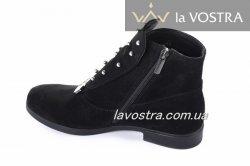Ботинки женские Speransa 103чз (весенне-осенние, черный, замш)