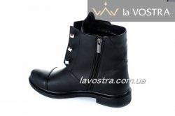 Ботинки женские Днепр 2647 (весенне-осенние, черный, кожа)
