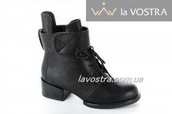Ботинки женские  A82-1 (весенне-осенние, черный, эко-кожа)