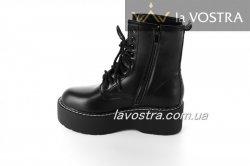 Ботинки женские Seastar 6607 (весенне-осенние, черный, эко-кожа)