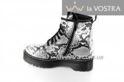 Ботинки женские Seastar 6604 (весенне-осенние, снейк, эко-кожа)