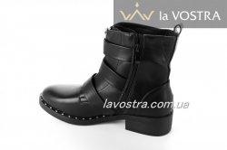 Ботинки женские Seastar 6595 (весенне-осенние, черный, эко-кожа)