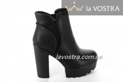 Ботинки женские Weide 6600 (весенне-осенние, черный, эко-кожа)