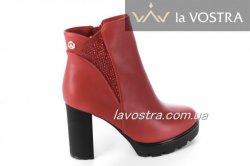 Ботинки женские Basida 2861 (весенне-осенние, красный)