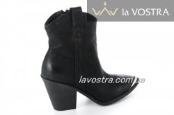 Ботинки женские Small Swan 6626 (весенне-осенние, черный, эко-кожа)