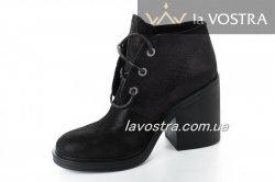 Ботинки женские Esve stule  6609 (весенне-осенние, черный, кожа)