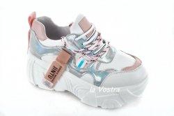 Кросівки жіночі VEAGIL 6311 (весняно-осінні, рожевий, еко-шкіра)