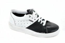 Кросівки жіночі Esve stule 5564 (весняно-осінні, чорний, шкіра)
