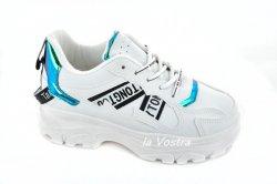 Кросівки жіночі VEAGIL 6317 (весняно-осіннє, білий, еко-шкіра)