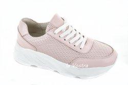 Кросівки жіночі Дніпро 981пк (весняно-осінні, рожевий, шкіра)