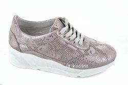 Кросівки жіночі Elza 5649 (весняно-осінні, рожевий, шкіра)