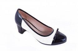 Туфли женские Eriko 5680 (весенне-осенние, черный, эко-кожа)