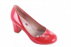 Туфли женские Yes mile 5052 (весна-лето-осень, красный, эко-лак)