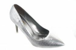 Туфлі жіночі Comer 4894 (весна-літо-осінь, срібло, еко-шкіра)