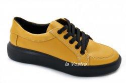 Кросівки жіночі Maria Sonet 6342 (весняно-осінні, жовтий, шкіра)