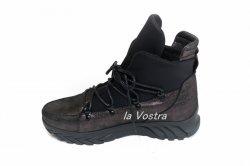 Ботинки женские Днепр Эмондж-чф (весенне-осенние, черный, кожа)