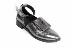 Туфли женские Днепр 692 (весенне-осенние, серебро, кожа)
